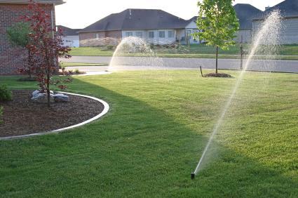 Watering Lawn